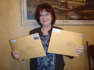 Yep, it was a big day. I mailed off my first two Children Book manuscripts.