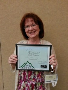 This is me and my Cascade Award for Children's Fiction. A terrific night of surprises and blessings at the summer 2014 Oregon Christian Writers Conference.