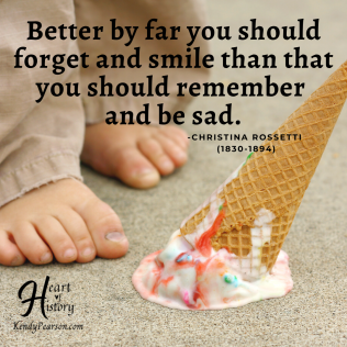 Christina Rosetti quote forget and smile