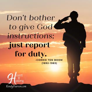 Corrie Ten Boom Report for duty