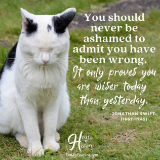 Jonathan Swift quote nover bo ashamed to admit you are wrong, wiser today than yesterday