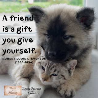 Robert Louis Stevenson quote a Friend is a gift you give yourself