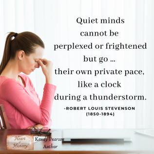 Robert Louis Stevenson quote quiet minds during a thunderstorm